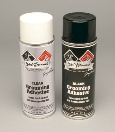 Clear and Black Grooming Adhesives