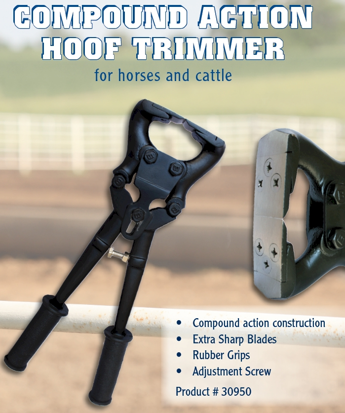 Compound Action Hoof Trimmer for Horses and Cattle
